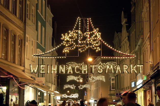 Weihnachtsmarkt In Rostock.Weihnachtsmarkt In Rostock